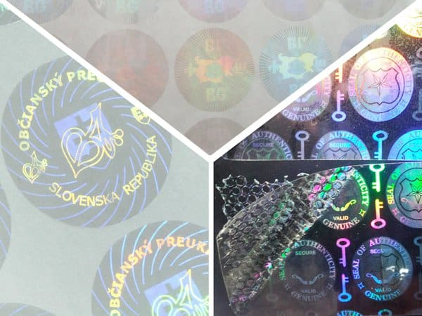 transparent hologram anti-counterfeit stamp