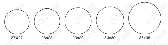 Round stamp mold 1