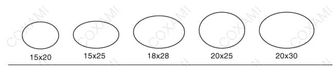 Elliptical stamp mold 2